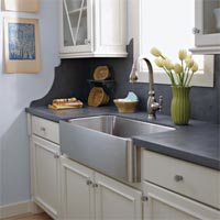 Kitchen With Counter Covered In Food Stains